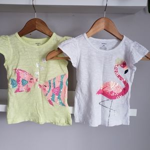 Carter's 24M Shortsleeve Sequin Graphic T-shirts